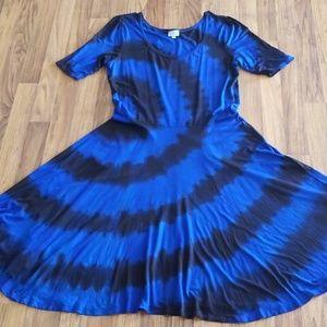 Lularoe Nicole custom tie dye size 3XL